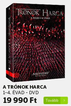 Trónok harca 1-4. évad - DVD
