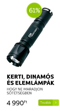 Kerti, dinamós és elemlámpák