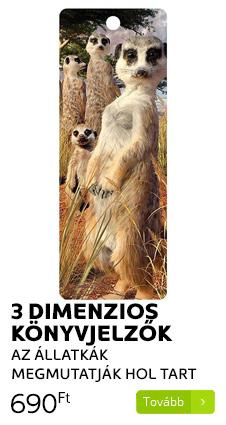 3 dimenziós könyvjelzők