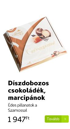 Díszdobozos csokoládék, marcipánok