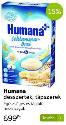 Humana desszertek, tápszerek