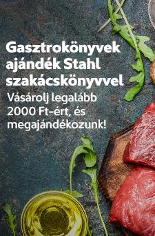 Gasztrokönyvek ajándék Stahl-szakácskönyvvel
