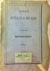 Moldován Gergely: Román népdalok és balladák