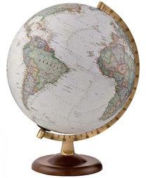 Technodidattica: Földgömb 30 cm-es - antik, világító, politikai, fatalpas (National Geographic)