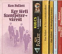 Ken Follett: 6db Ken Follett regény: Kaland Afganisztánban, A függöny lehull, A Modigliani-botrány, A Tű a szénakazalban, Kulcs a Manderley-házhoz, Egy férfi Szentpétervárról