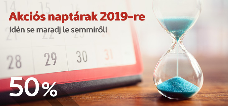 Akciós naptárak 2019-re