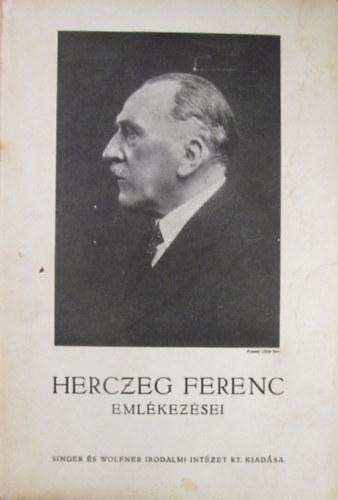 Herczeg Ferenc Emlekezesei A Varhegy Alairt Bookline