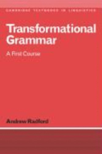 Transformational grammar andrew radford