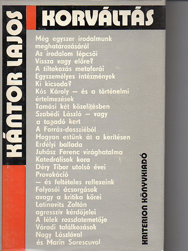 Kriterion Kiadó kiadó termékei