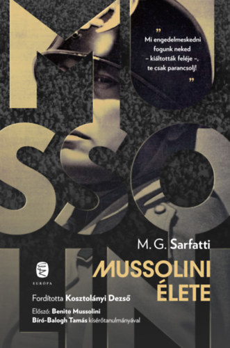 Margherita G. Sarfatti: Mussolini élete