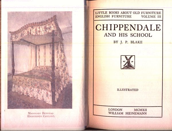 J p blake chippendale and his school little books for Classic house zene