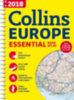 Collins Maps: Európa atlasz (Collins Essential) - 2018