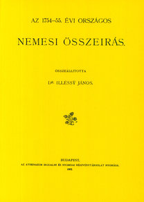 Illésy János: Az 1754-55. évi országos nemesi összeírás