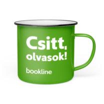 Bookline bádog bögre - Csitt, olvasok. bookline