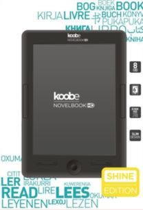 Koobe Novelbook HD SHINE e-könyvolvasó, ajándék Bookline tokkal - 8GB RAM, háttérvilágítás