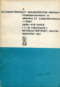 Urbaria et Conscriptiones I-VIII. (1-9.)