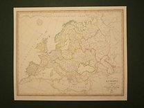 Stieler, Adolf: Europa - Flussgebiete und Höhenzüge