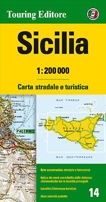 TCI: Szicília régiótérkép 1:200 000