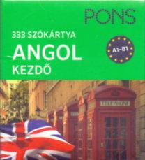 PONS Szókártyák ANGOL kezdőcsomag 333 szó A1-B1
