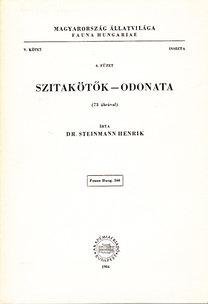 Dr. Steinmann Henrik: Szitakötők - Odonata (Magyarország állatvilága- Fauna Hungariae 160.)- V. kötet, 6. füzet (Insecta)