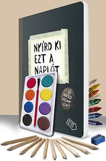 Keri Smith: Nyírd ki ezt a naplót - pingálószettel - és alkoss valami újat!