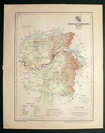 Gönczy - Pallas: Ugocsa vármegye térképe