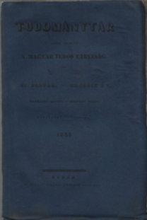 Luczenbacher János: Tudománytár 1838/3.kötet (XVIII.)