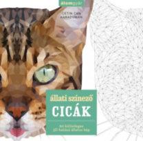 Cetin Can Karaduman: Állati színező - Cicák - 60 különleges 3D hatású állatos kép