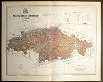 Gönczy: Pallas: Nagy-Küküllő Vármegye térképe.