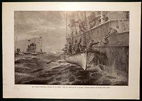 """Illustrirte Zeitung: Der werschärste U-Bootsrieg: """"Verlassen Sie das Schiff!"""""""
