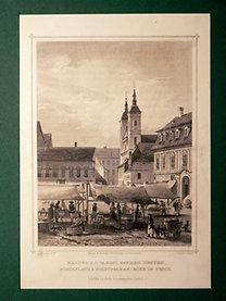 Ruthner, A. von: Das Kaiserthum Österreich: Haltér s a városi egyház Pesten - Fischplatz & Stadtpfarrkirche in Pesth