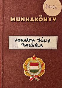 Horváth Júlia Borbála: Munkakönyv
