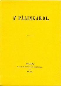 Széchenyi István: A' pálinkáról