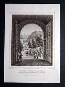 HUNFALVY J. - ROHBOCK L.: Kilátás a várkapuból Budán.