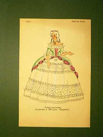 Pártos Vera: Franciaország. Díszruha a XVIIIsz. Elejéről.